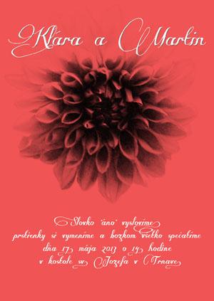 Svadobné Oznámenie KSO15