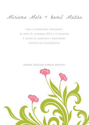 Svadobné Oznámenie KSO33