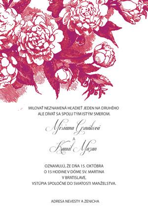 Svadobné Oznámenie KSO36