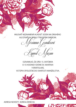 Svadobné Oznámenie KSO37