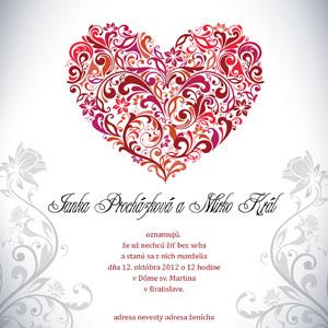 Svadobné Oznámenie SSO40